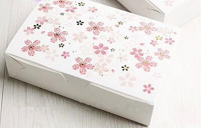 Free shipping sakura decoration cake box cookie/puff/macaron/dessert/biscuit package boxes bakery gift packing supply favors
