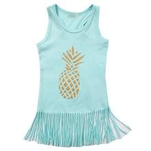 Hi Hi Baby Store Baby Kids Girl Dress Pineapple Fringe Dresses Tassel Sundress  Cotton Outfits One-piece