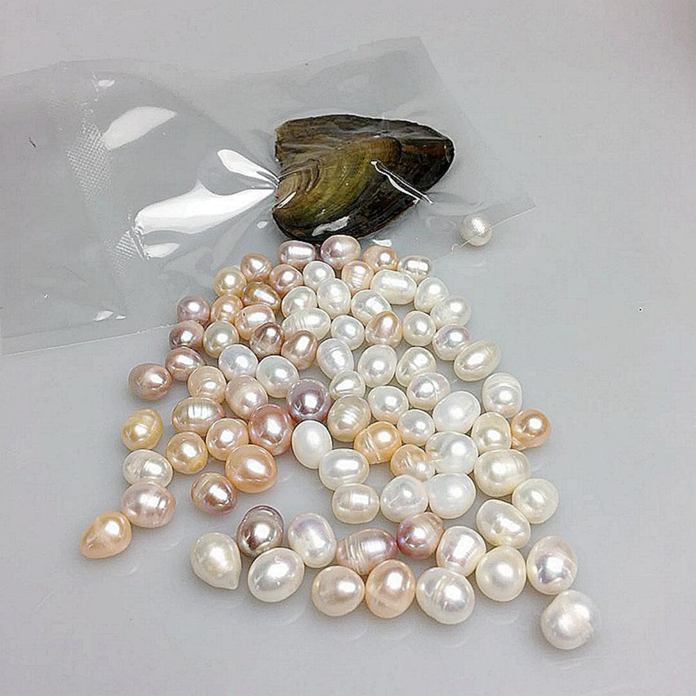 6 unids/set Mini huevo perla de imitación mejillón de agua dulce accesorio de joyería de ostra cultivada perla Artificial DIY accesorios de joyería regalo