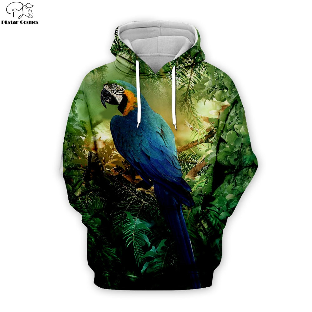 Papagei Hoodies Männer frauen hoodies Hip Hop Pullover vogel 3d Print sweatshirt Trainingsanzüge Kleidung Casual Tops sweatshirt mantel THS034