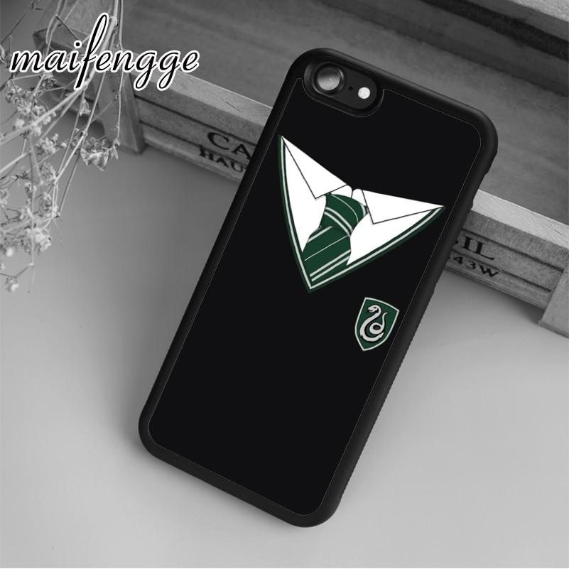 Maifengge capa uniforme de hogwarts, para iphone 5 6 6s 7 8 plus x xr xs max 11 pro samsung galaxy s7edge s8 s9 s10