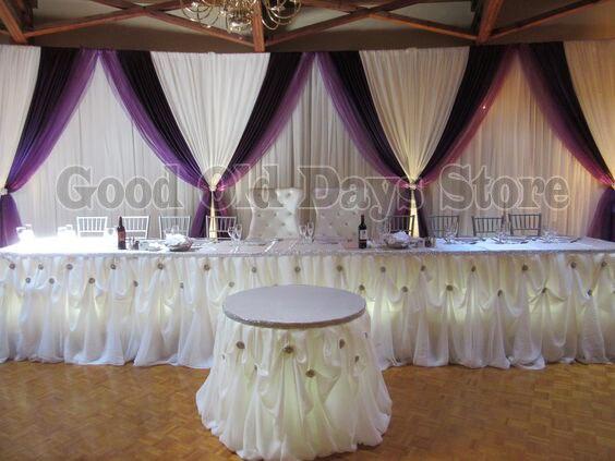 Telón de fondo Lila cortinas 3M x 6M decoración de escenario de boda banquete boda escenario telón de fondo cortina voilet decoración de fondo