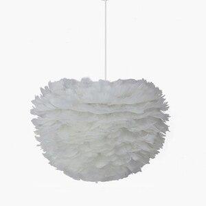 Подвесные светильники E27, романтическая Подвесная лампа с пером для спальни, гостиной, освещение, подвесной светильник с гусиными перьями