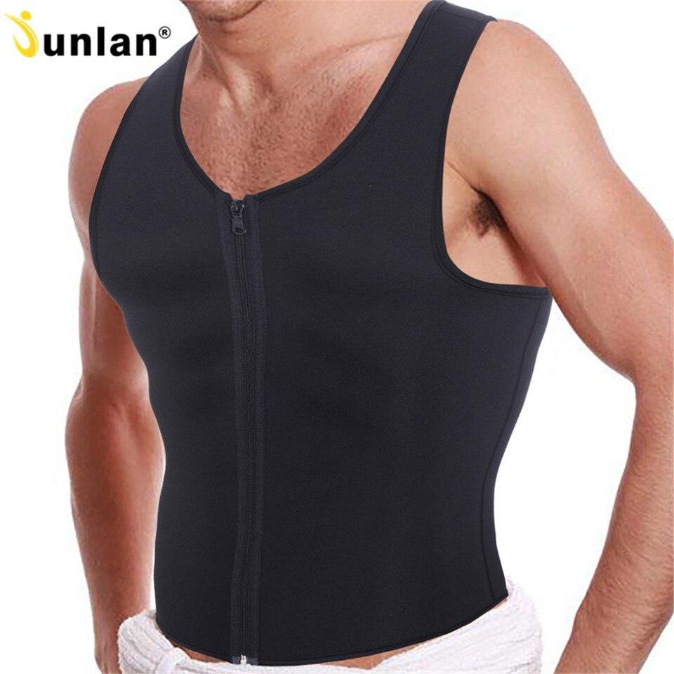 Hot sudoración Body Shaper con cremallera delantera quemador Fat cintura Trainer Sauna Sweat trajes adelgazantes hombres Shapewear chaleco Tops Shapers
