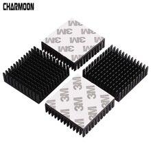 3/5 pièces radiateur noir moteur en aluminium dissipateur thermique extrudé Dissipation thermique dissipateur thermique électronique pour 42 moteur pas à pas impression 3D