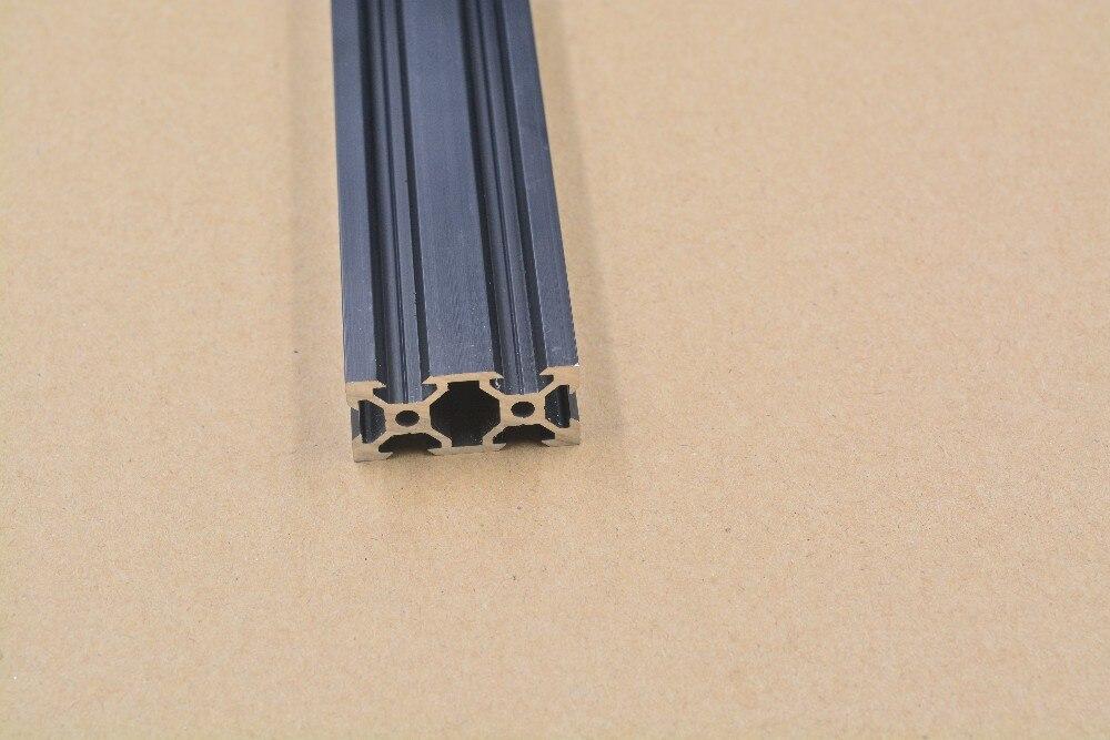 2040 Perfil de extrusión de aluminio estándar europeo v-slot negro longitud 300mm banco de trabajo 1 Uds