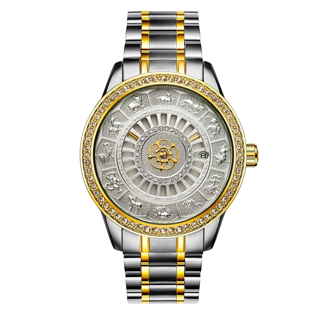 Reloj de pulsera mecánico automático para hombres, marca superior de tavise, reloj de pulsera automático para hombres, edición limitada, reloj dorado, Saat Erkekler