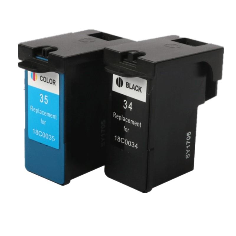 LM34 LM35 cartucho de tinta remanufacturado para lexmark 34 35 X2500 X2530 X2550 X3330 X3350 X3530 X3550 de inyección de tinta de 18C0034 18C0035