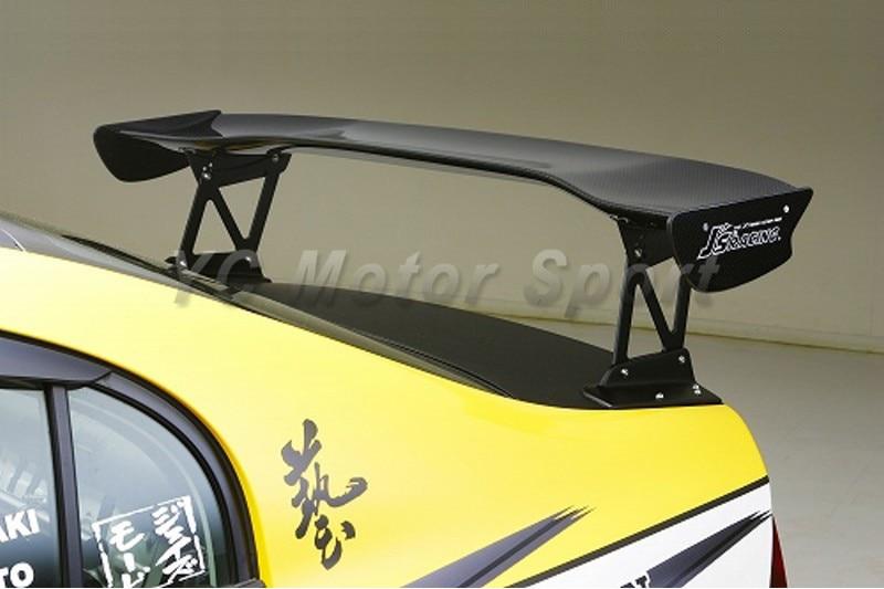Car Accessories Carbon Fiber Js Racing Style 1390mm 3D Rear Spoiler Fit For 2006-2010 Civic 4DR FD2 Trunk GT Wing