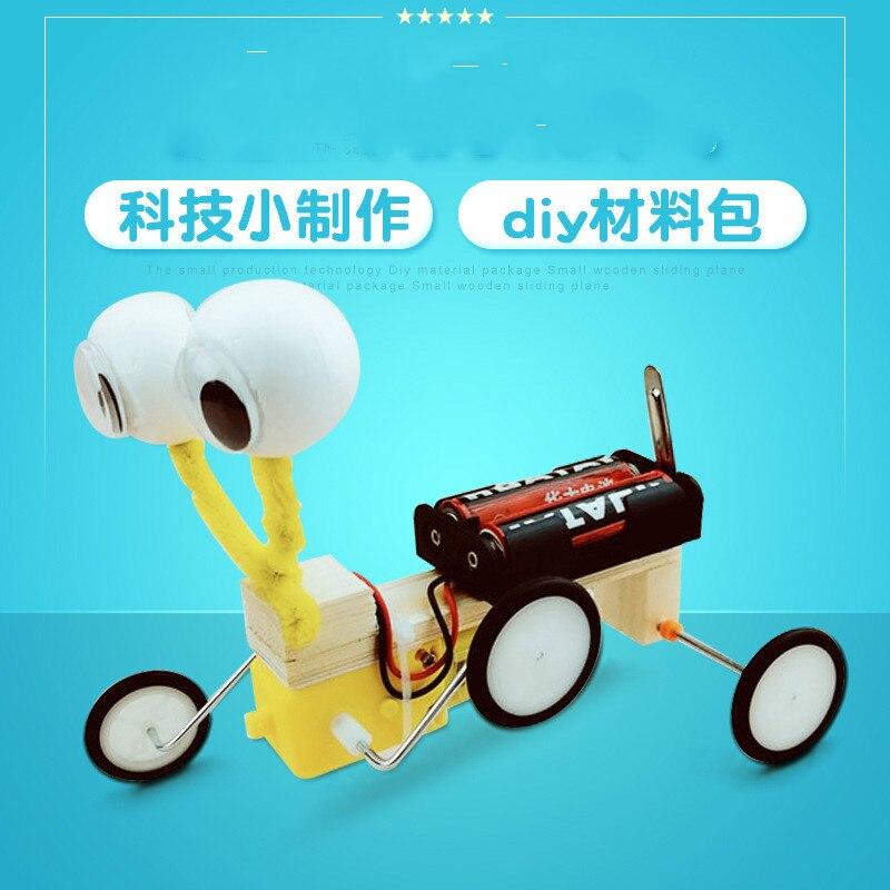 Ciencia y Tecnología Diy máquina de Motor Robot reptiliano pequeños inventos KIT de Manual de laboratorio científico