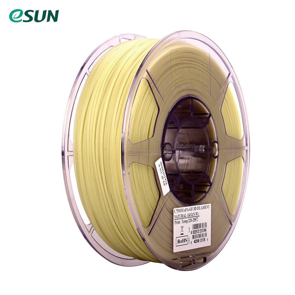 ESUN ePA-GF 1,75mm Glas Fiber Gefüllt 3D Drucker Filament 1 kg 2.2lb Spool Material Minen Natürliche Verbrauchs
