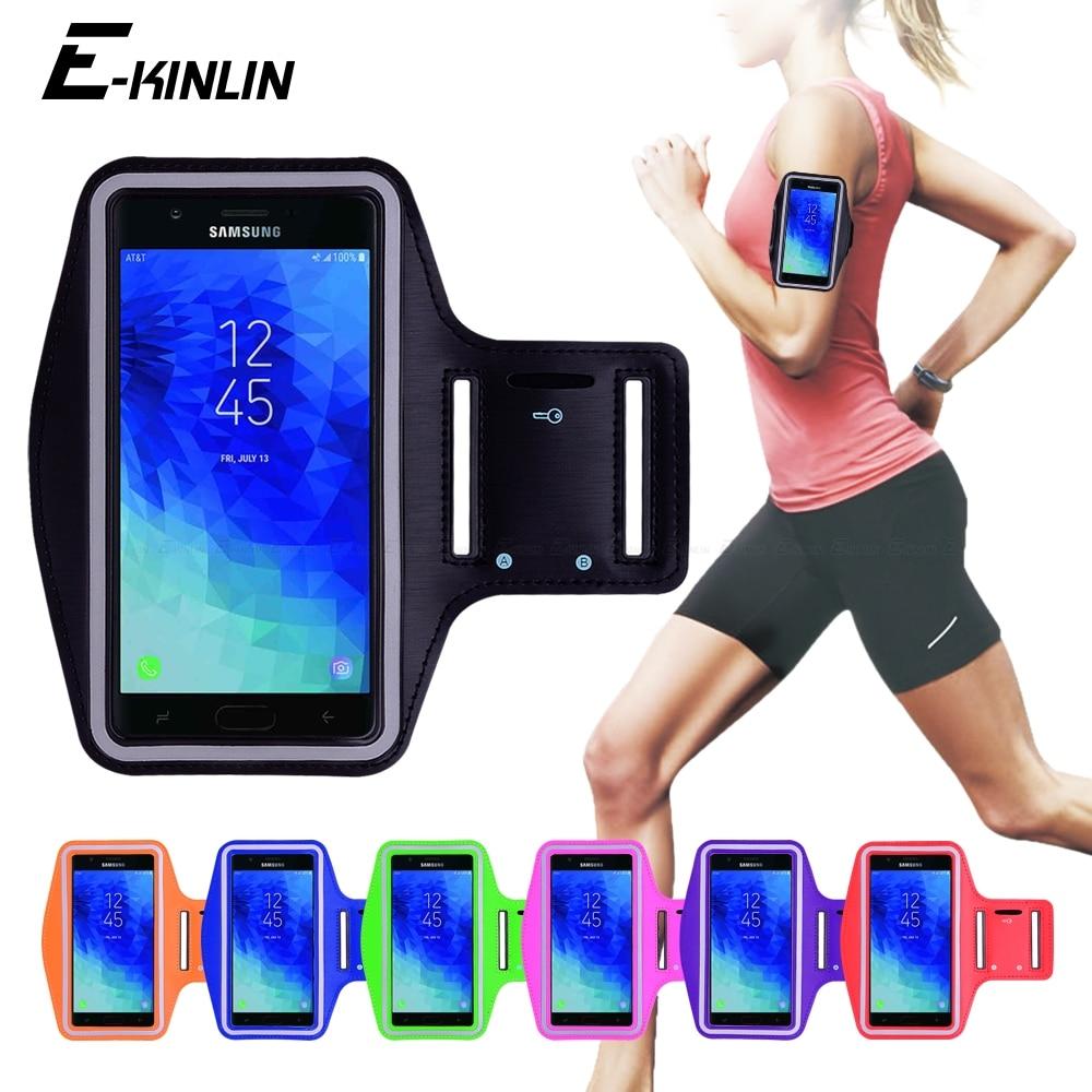 Correr correr gimnasio deporte bolsa cubierta de la banda de brazo caso de teléfono para Samsung Galaxy J3 J7 primer salir lograr Star V afinar Eclipse 2018