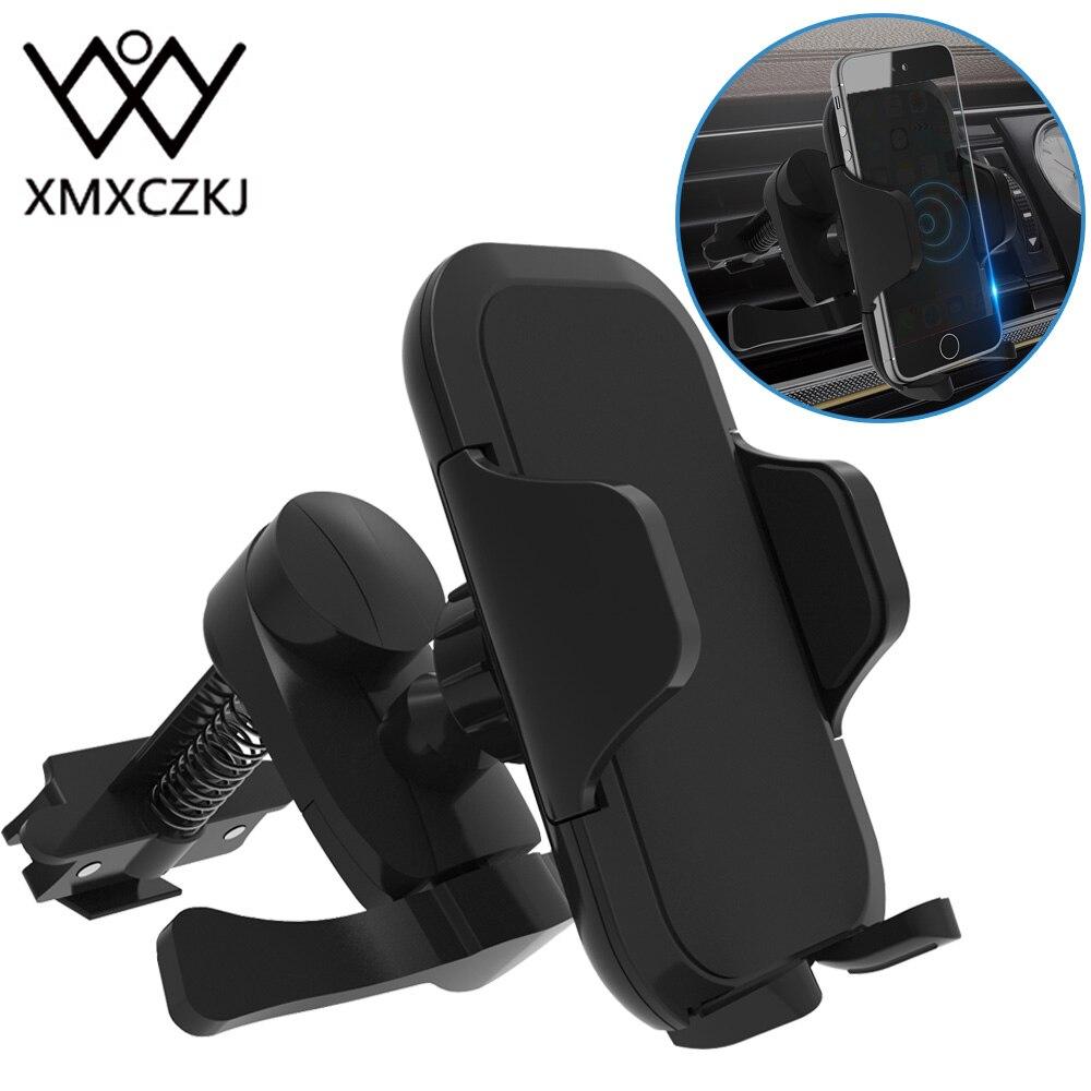 XMXCZKJ новый держатель на вентиляционное отверстие автомобиля для мобильного телефона, автоматический держатель замка для iPhone 360, вращающийся зажим для смартфона, автомобильная подставка для телефона