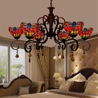 led e27 Tiffany Glass Alloy Red LED Lamp LED Light.Pendant Lights.Pendant Lamp.Pendant light For Dinning Room Foyer