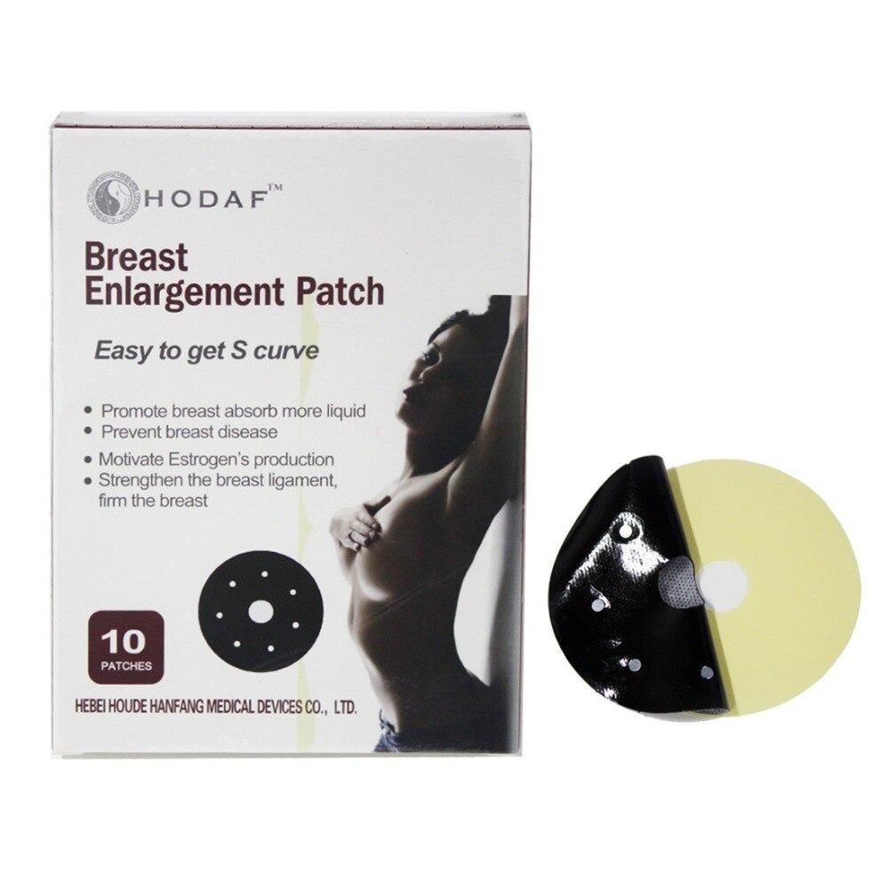 100% Natural Herbal Efeito Mama Feminina Alargamento Patches 10 pçs/caixa Ponto Magnetoterapia Realçadores do peito