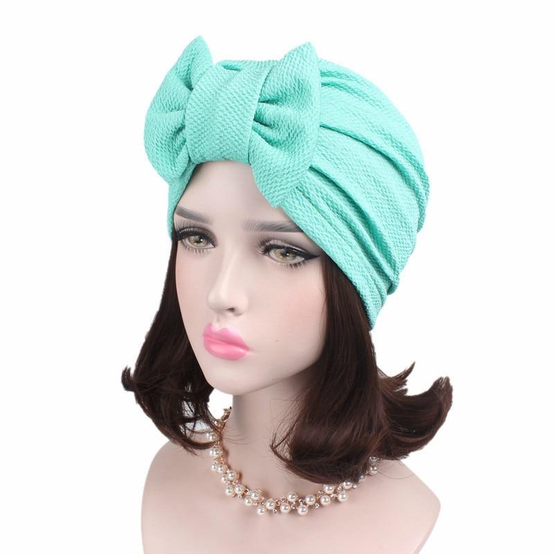 ¡Popular en Europa y América! Accesorios para el cabello, sombreros de mujer con lazo, sombreros de turbante de algodón, sombreros de la India, sombreros de turbante, hiyab musulmanes para interior