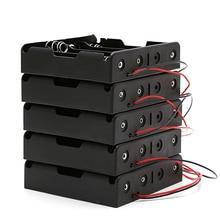 OOTDTY 5 Pièces 3x18650 Batterie Rechargeable 3.7V Clip De Fixation Boîtier Avec Fil De Plomb