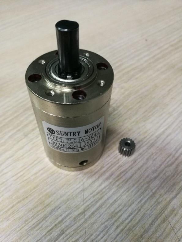 Planetary reducer 36mm diameter Round flange for motor shaft diameter 3.175mm DC motor use  ratio 139:1
