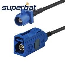 Superbat Fakra C bleu/5005 prise femelle à prise mâle queue de cochon droite RG174 pour antenne GPS Extesion 100cm RF câble Coaxial
