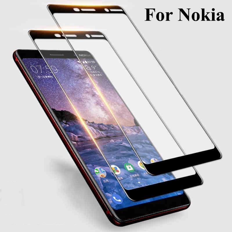 Полное Защитное стекло для Nokia 8,1 8 7,1 Plus 7 6,1 6 5,1 Plus 5 3,1 X5 X6 2018 Nokia5 Nokia6 закаленное стекло HD защита экрана