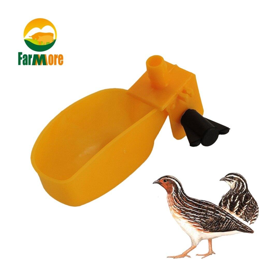 Prato de Água de Pato para Animais de Estimação Automáticas para Bebida Pequena para Animais de Estimação Pequenos com 10 Codornas Tigela Aves Animais Peças