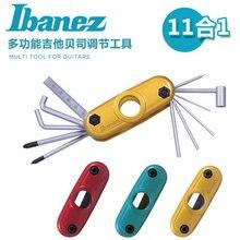 Ibanez MTZ11 outil multi-usages clé hexagonale Multitool pour guitares/guitares basses/batterie/11-en-1