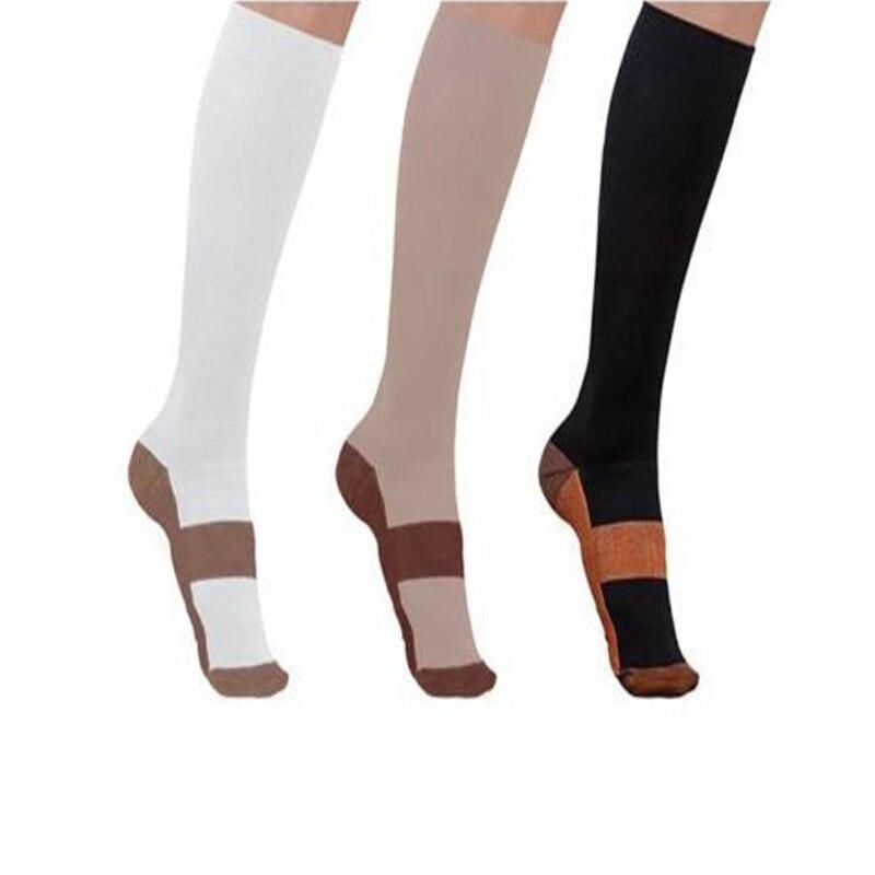 Медные Компрессионные носки 20-30 мм рт. Ст. Градуированные Мужские Женские Лоскутные Длинные носки S-XXL