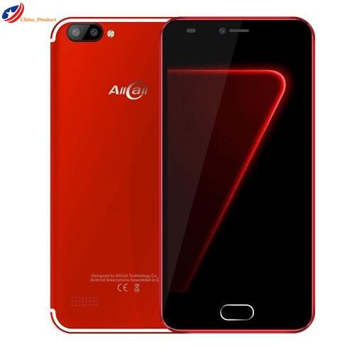 AllCall ألفا الجيل الثالث 3G الهاتف الذكي أندرويد 7.0 5.0 بوصة الأصلي MTK6580A 1.3GHz رباعية النواة 1GB RAM 8GB ROM 8.0MP 2.0MP المزدوج كاميرا خلفية