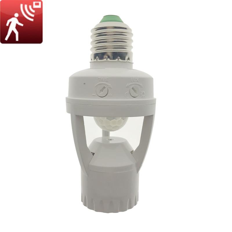 AC 110-220 в 360 градусов PIR индукционный датчик движения ИК инфракрасный человек E27 розетка переключатель База Светодиодный Держатель Лампы