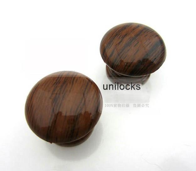 UNILOCKS 10 قطعة/الوحدة البلاستيك مقبض شنقا سحب بسيطة الخشب نمط الباب درج مقبض و المقابض (القطر: 25 مللي متر)