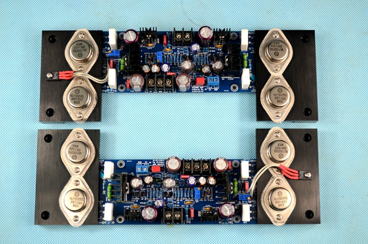 Referencia KSA50 circuito 2 pares MJ15024 MJ15025 2,0 canal 180W + 180W de alta potencia MJ01 sello de oro placa amplificadora de potencia Hifi