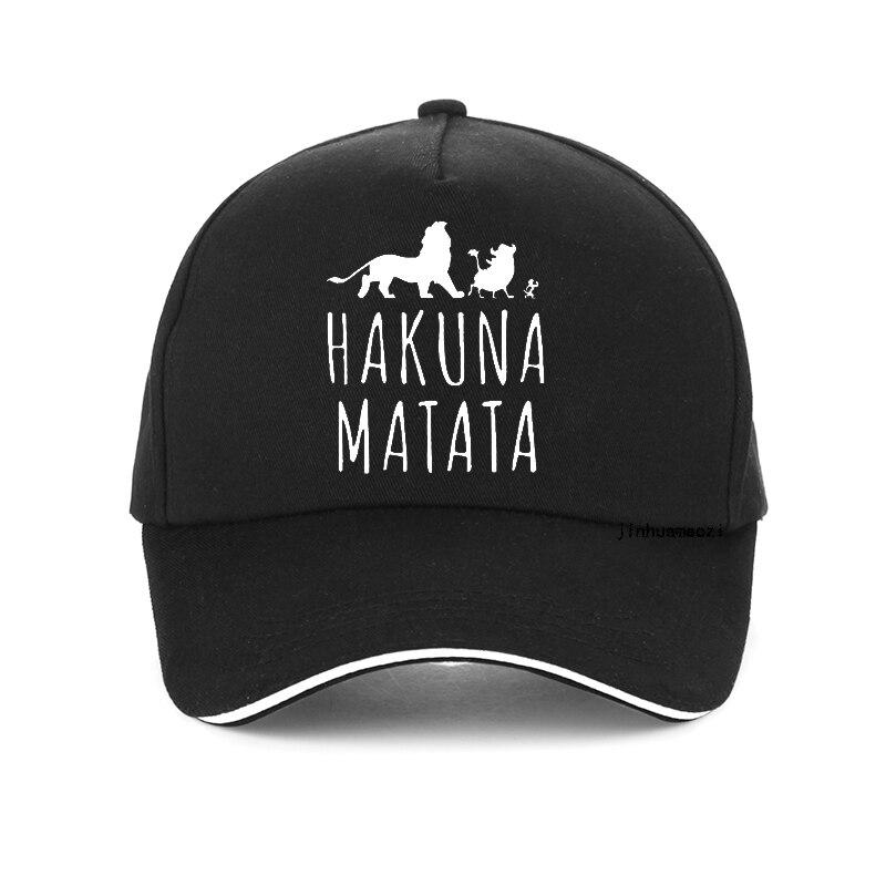 fashion Hakuna Matata letter print baseball caps 100%cotton  Pumba hats men Women Summer sun cap outdoor Unisex Snapback hat