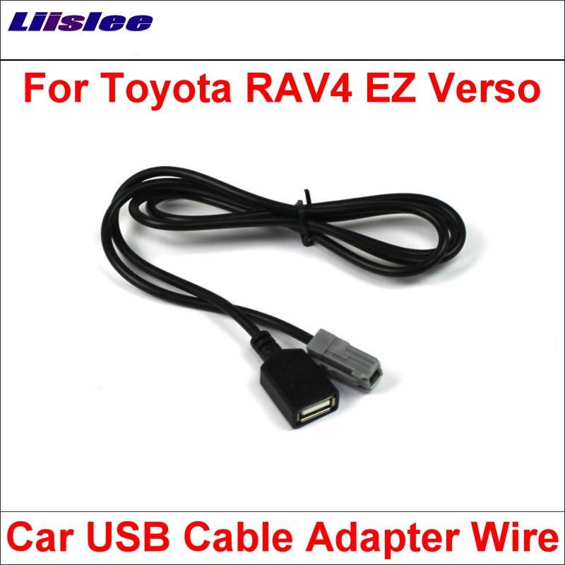 Liislee Original Plugs To USB Adapter Conector For Toyota RAV4 EZ Verso Car CD Radio Audio Media Cable Data Wire