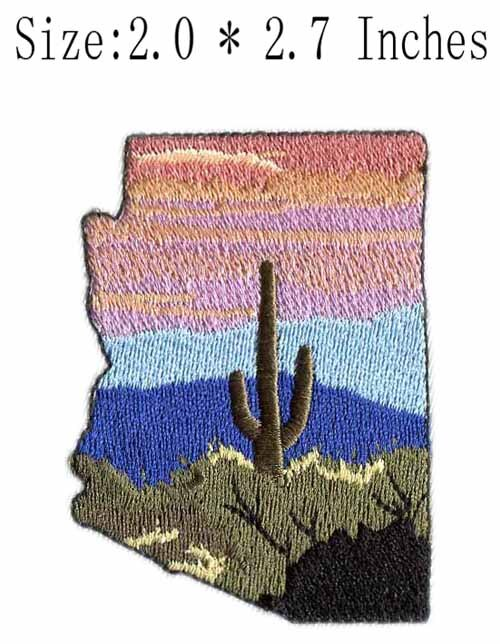 Parche bordado de fragmento de paisaje de 2,0 pulgadas de ancho/Recuerdo/autoadhesivo/Historia