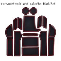 Car Door Groove Mat For Honda Accord 9.5th Accessories 3D Rubber Car Mat Gate Slot Pad Non-Slip Mats Car Decoration