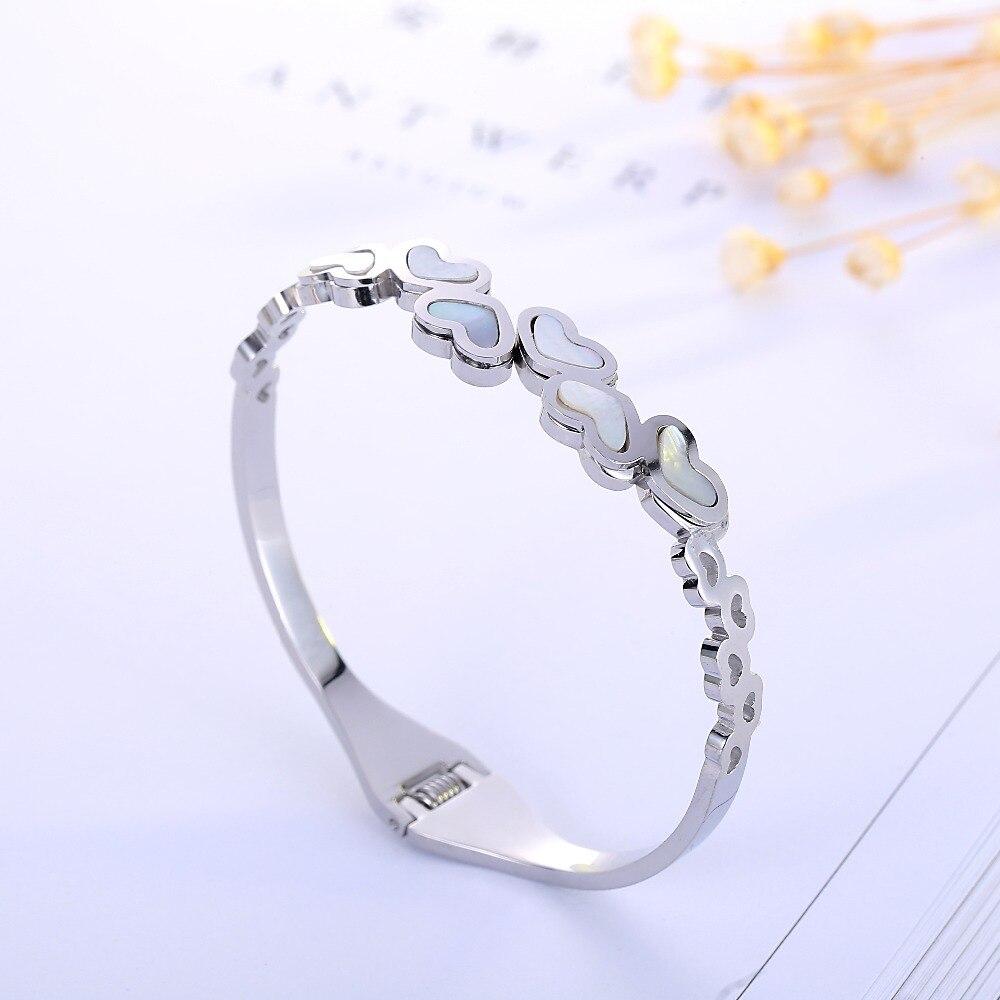 Five Heart Love Couple marca de joyería de moda Cuff Carter pulseras brazaletes de acero inoxidable pulseras para mujeres
