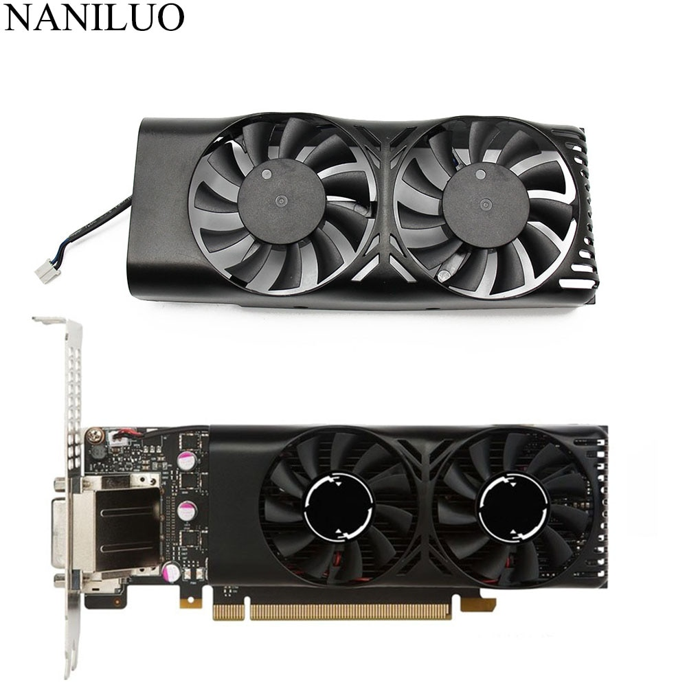 HA5510M12F-Z XY-D05510S  0.20A 2Pin GTX1050 Ti For MSI Geforce GTX 1050 2GT LP GTX 1050Ti 4GT LPV1 Graphic Card Cooling Fan