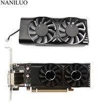 Вентилятор охлаждения графической карты MSI Geforce GTX HA5510M12F-Z 2GT LP GTX 1050Ti 4GT LPV1, XY-D05510S 1050 а 2Pin GTX1050 Ti