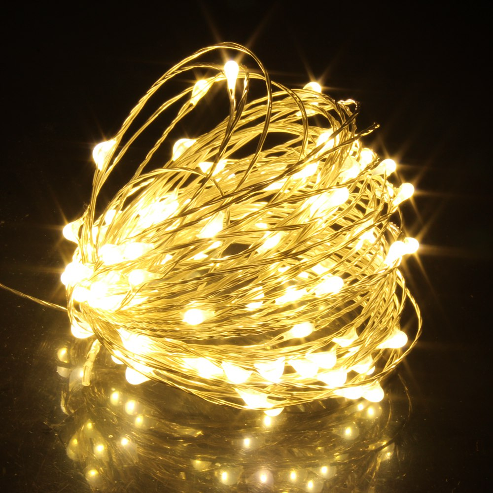 100 led string lights 10m 5m 1m usb waterproof copper silver wire garland fairy lights for christmas decoration wedding party 1M/2M/5M/10M/20M Copper Silver Wire LED String Fairy lights Holiday lighting For Christmas Tree Garland Wedding Party Decoration