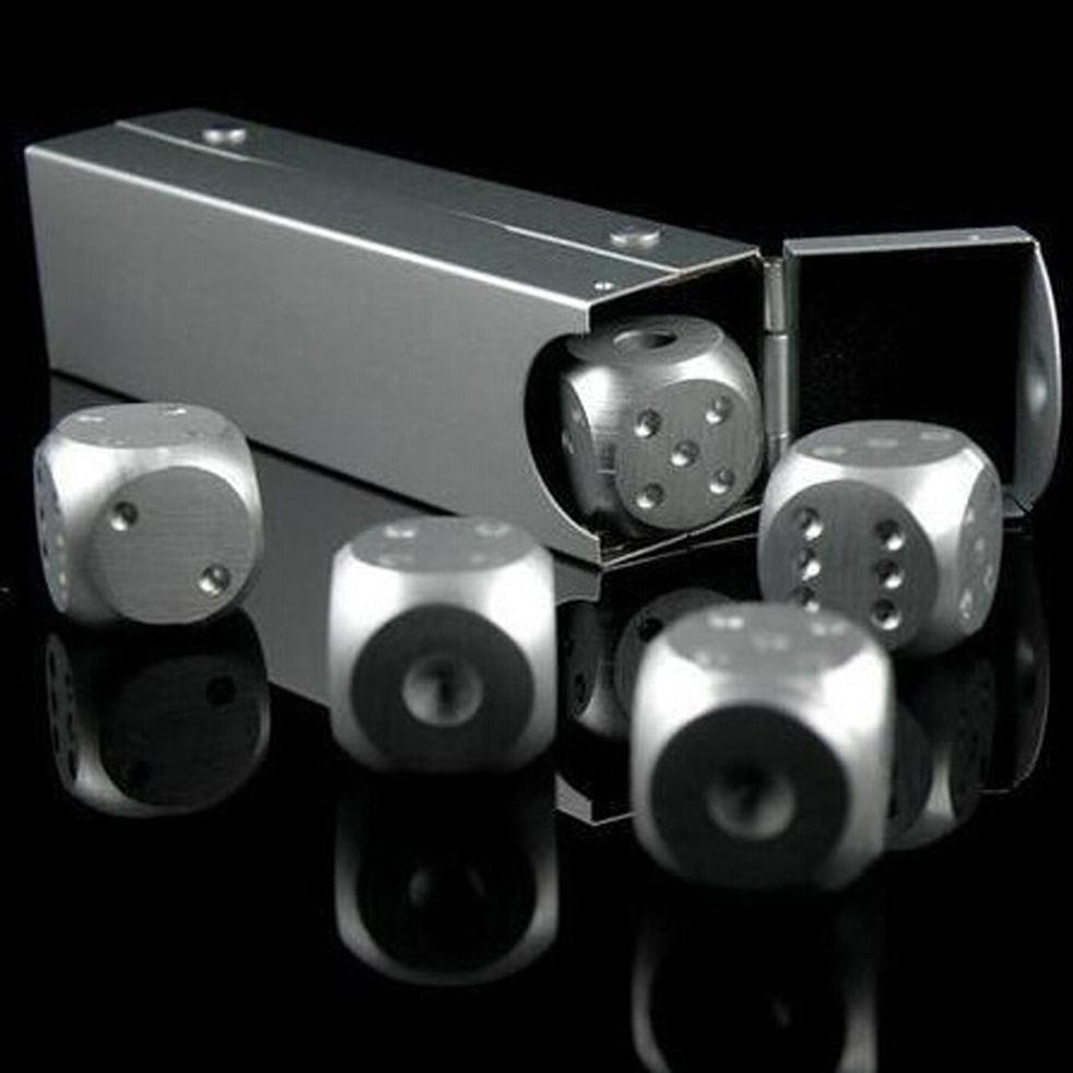 Алюминиевые кости (кубики) 5 штук, для разных настольных игр (покер, домино и других)