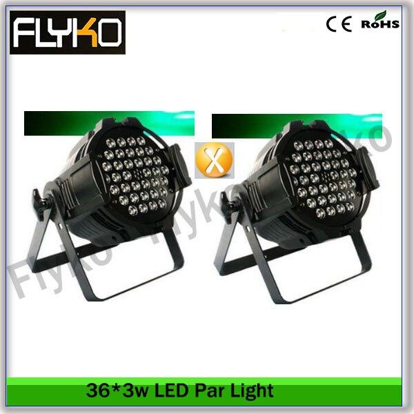 Flyko Stage frete grátis 2 pcs juntos 36 * 3 w LED light par DMX512 7 channel KTV DJ Party luzes do palco