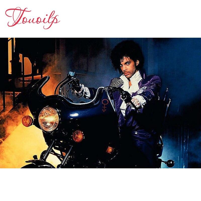 5D Diy spuare & round 5d алмазная картина Принц фиолетовый дождь ездить на мотоцикле кристальная картина полный diy Алмазная вышивка наборы