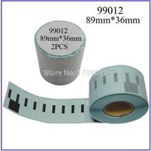 2 pièces/lot LUDEOU pour Dymo Labelwriter 450 etiqueteuse etiqueteuse bandes 99012 autocollant adresse 89mm * 36mm etiqueteuse plastique