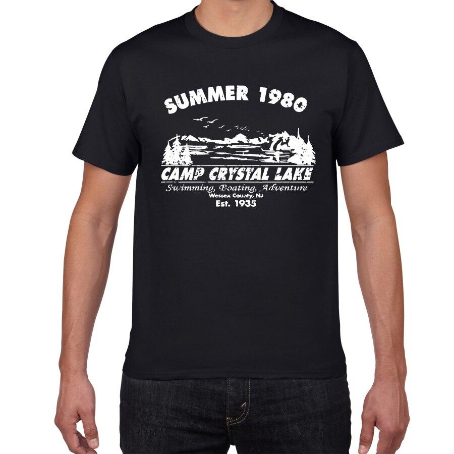 Летняя мужская футболка в стиле Харадзюку Crystal Lake Camp, забавная футболка в винтажном стиле