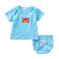 hot sale 2018 baby girls clothes summer kids clothes sets t shirtbriefs suits ocean world printed clothes newborn sport suits
