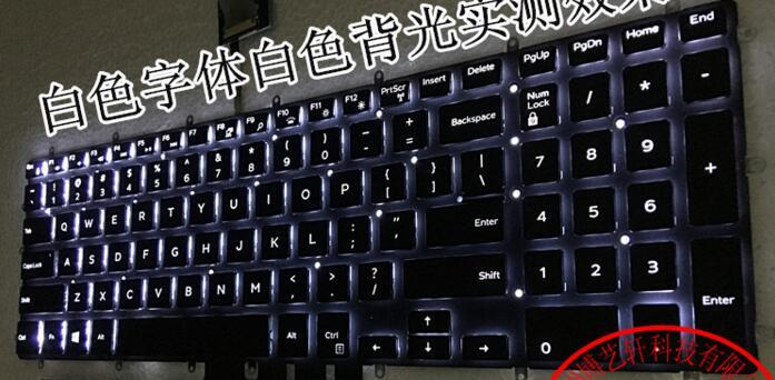 Nos teclado para Dell Inspiron 5565 15 5567 Gaming 7566 7567 17 5765 5767 inglés teclado del ordenador portátil retroiluminación blanca