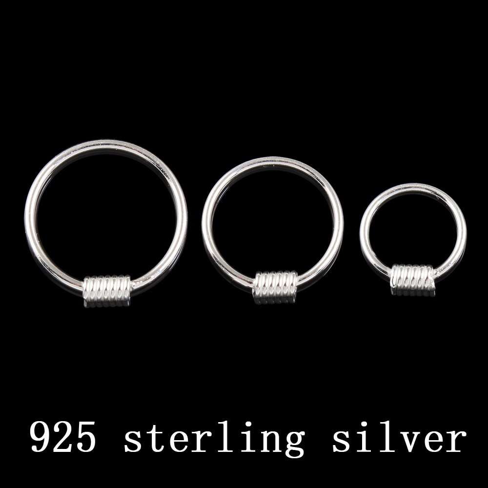Real 925 sterling silver nipple ring round body piercing 20G outside diameter 8 10 12 mm piercing jewelry S925 fashion jewelry