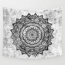 CAMMITEVER-tapisserie en forme de Mandala   Décoration circulaire, violet, gris, noir, blanc, pour salon chambre dortoir, décorations de maison