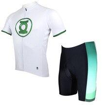 Super héros vert flèche cyclisme maillot américain héros thème jeunes hommes garçon vélo maillot Cool