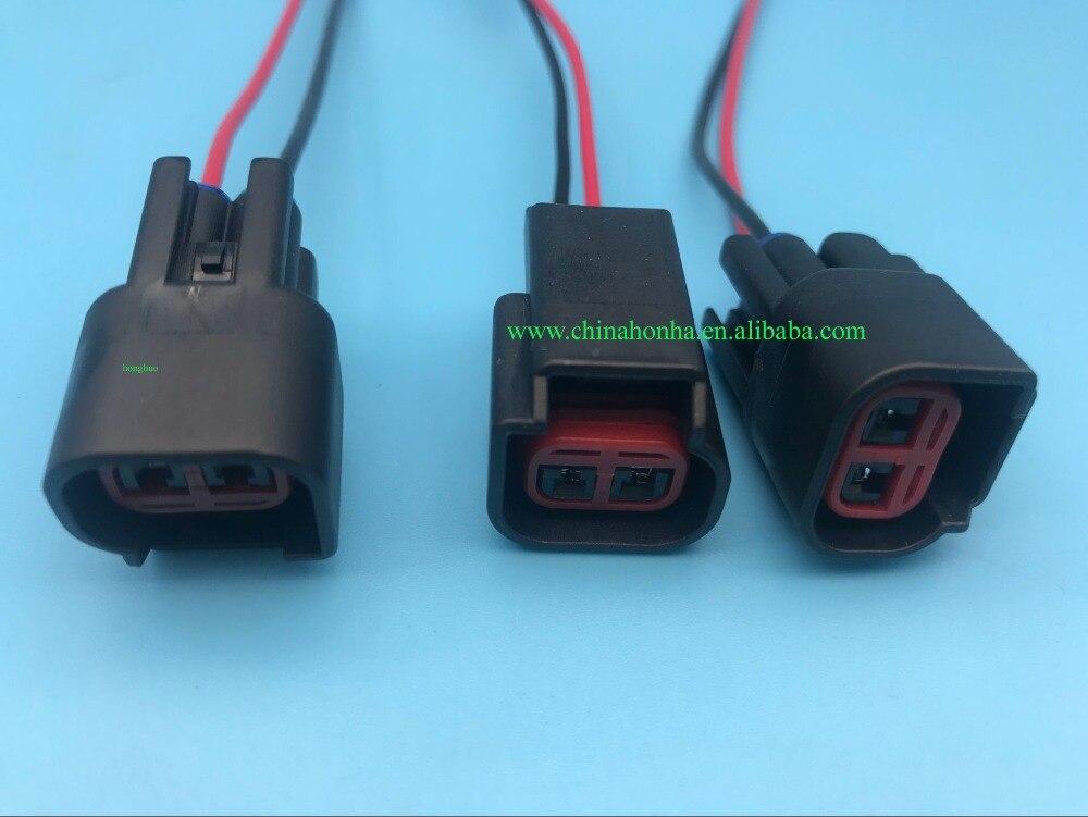 Frete grátis 8 pçs 2 pinos conector da bobina de ignição triton F-150 cobra mustang tranças com ou sem fio apto para ford